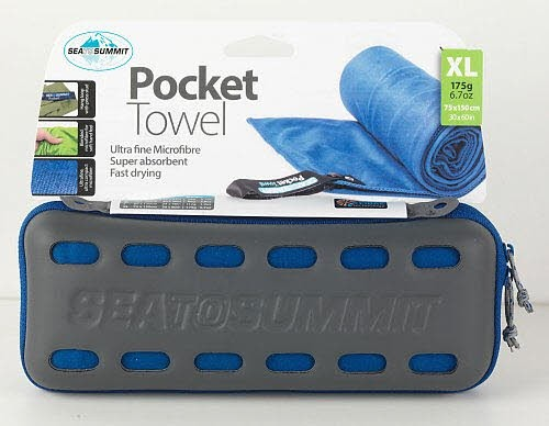 SPORT 2000 POCKET TOWEL X Large blau, 75 x 15