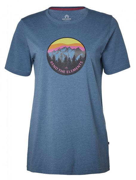 North Bend Vertical Tee W,blue bay