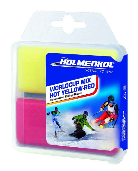 Holmenkol Worldcup Mix Hot yellow-red 2x35 g