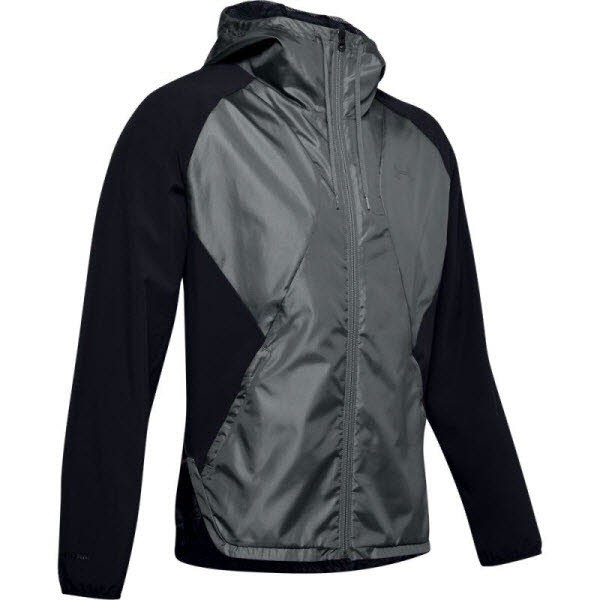 Under Armour STRETCH-WOVEN HOODED JACKET,Black /