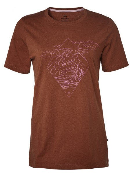 North Bend Vertical Tee W,red rust
